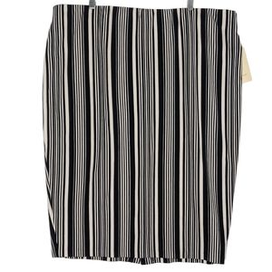 Sejour Pencil Skirt Vertical Stripe Plus Size